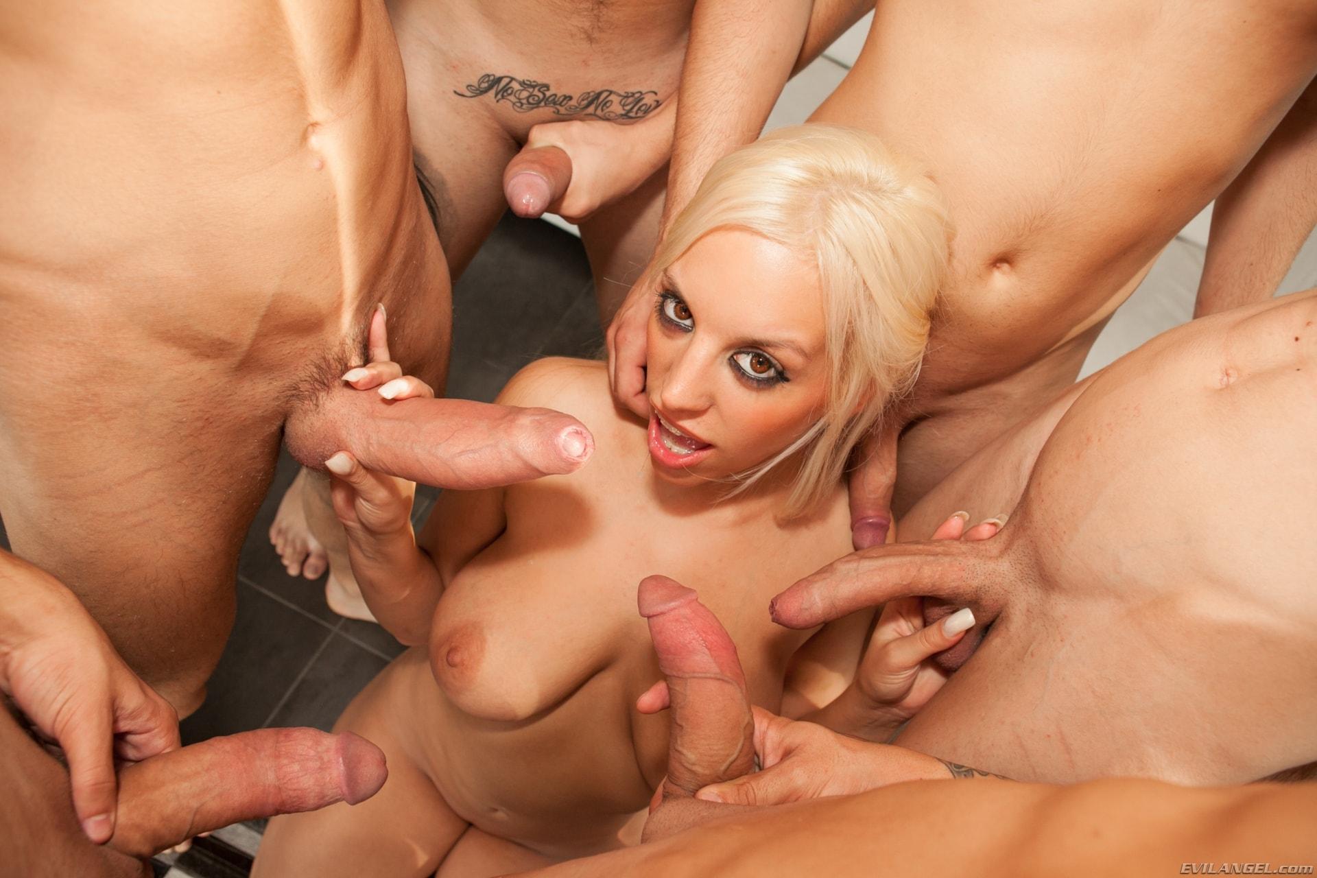 Evil Angel 'Nacho's Fucking Amateurs 02: Gangbangs' starring Blondie Fesser (Photo 2)