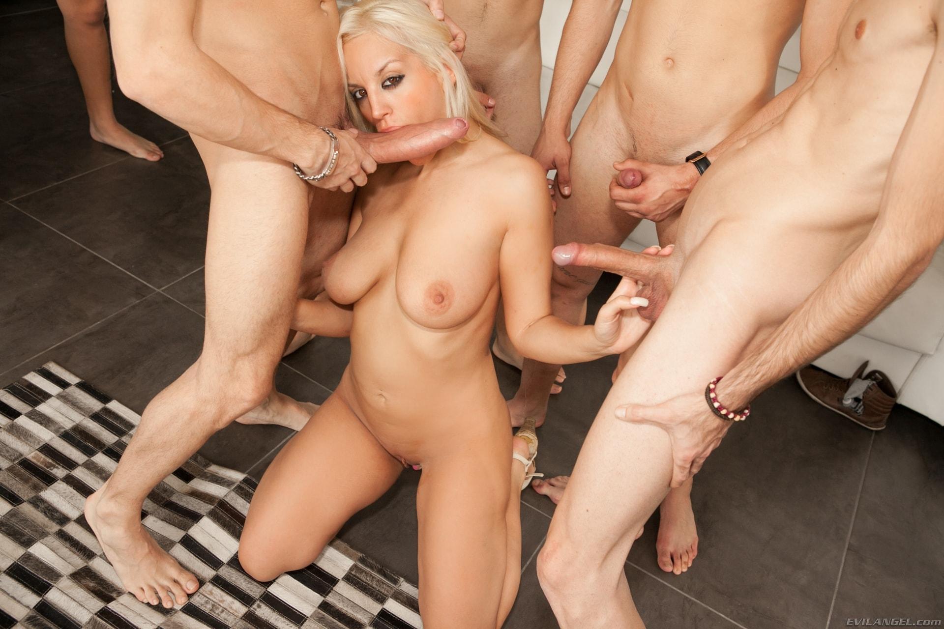 Evil Angel 'Nacho's Fucking Amateurs 02: Gangbangs' starring Blondie Fesser (Photo 3)