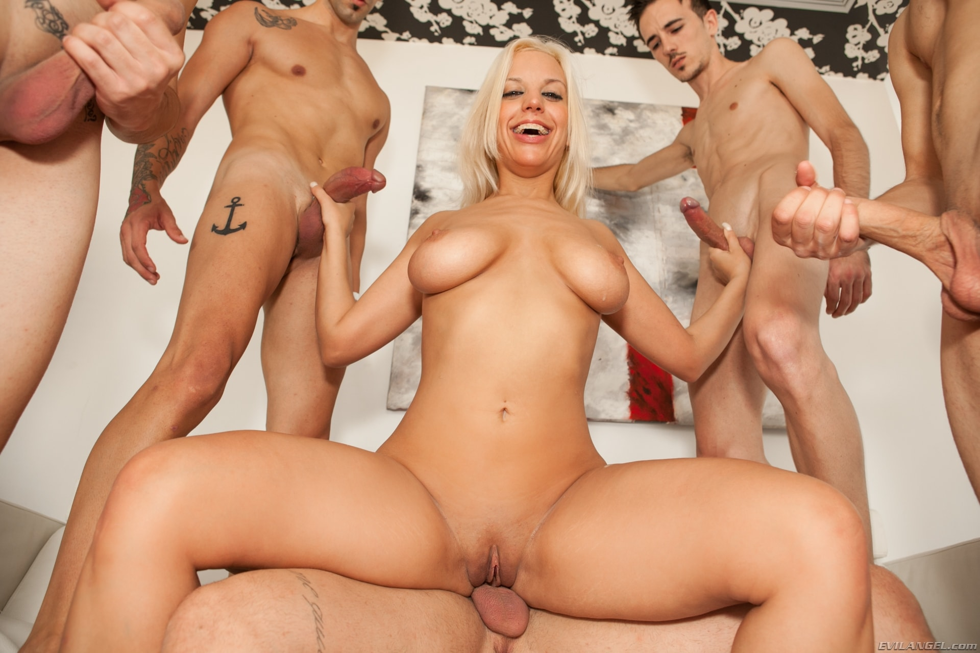 Evil Angel 'Nacho's Fucking Amateurs 02: Gangbangs' starring Blondie Fesser (Photo 7)