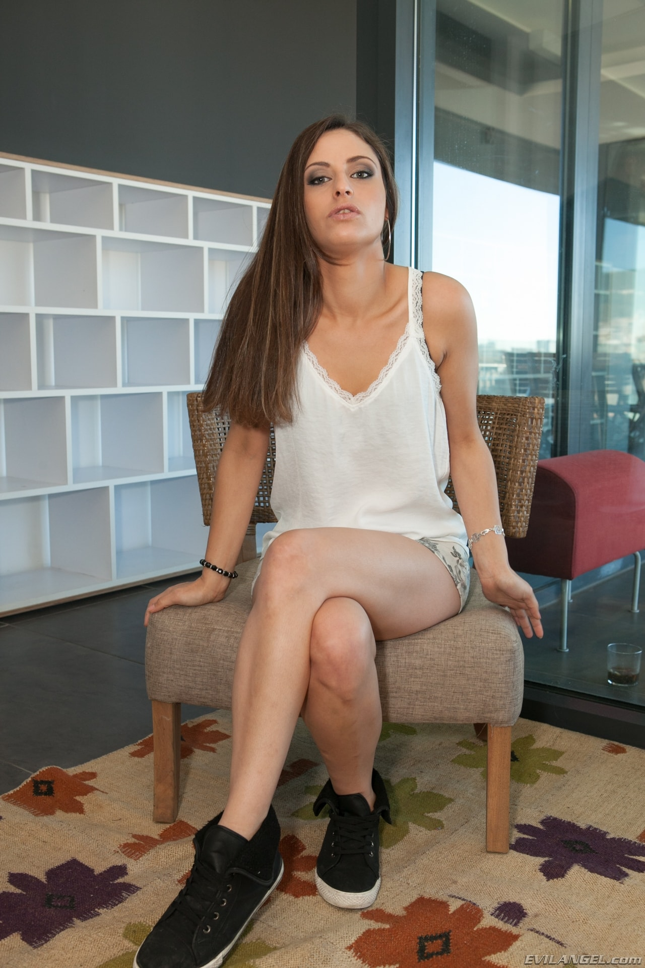 Evil Angel 'Nacho's Fucking Amateurs 2: Gangbangs' starring Tania Hassana (Photo 1)